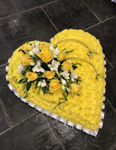 Yellow Massed Heart