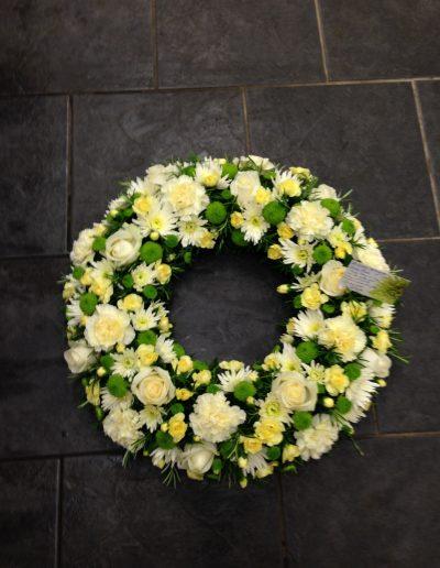 Cream & Yellow Open Wreath