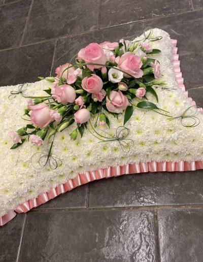 Pink & White Pillow