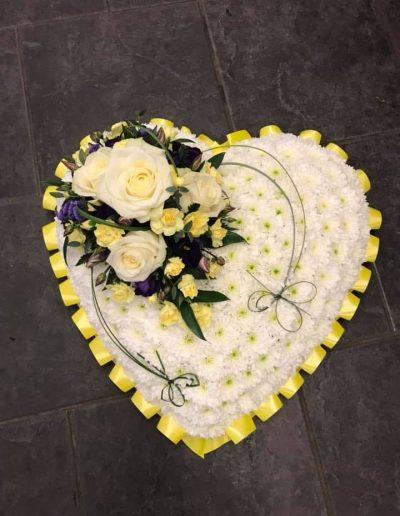 Small Cream & Lemon Heart